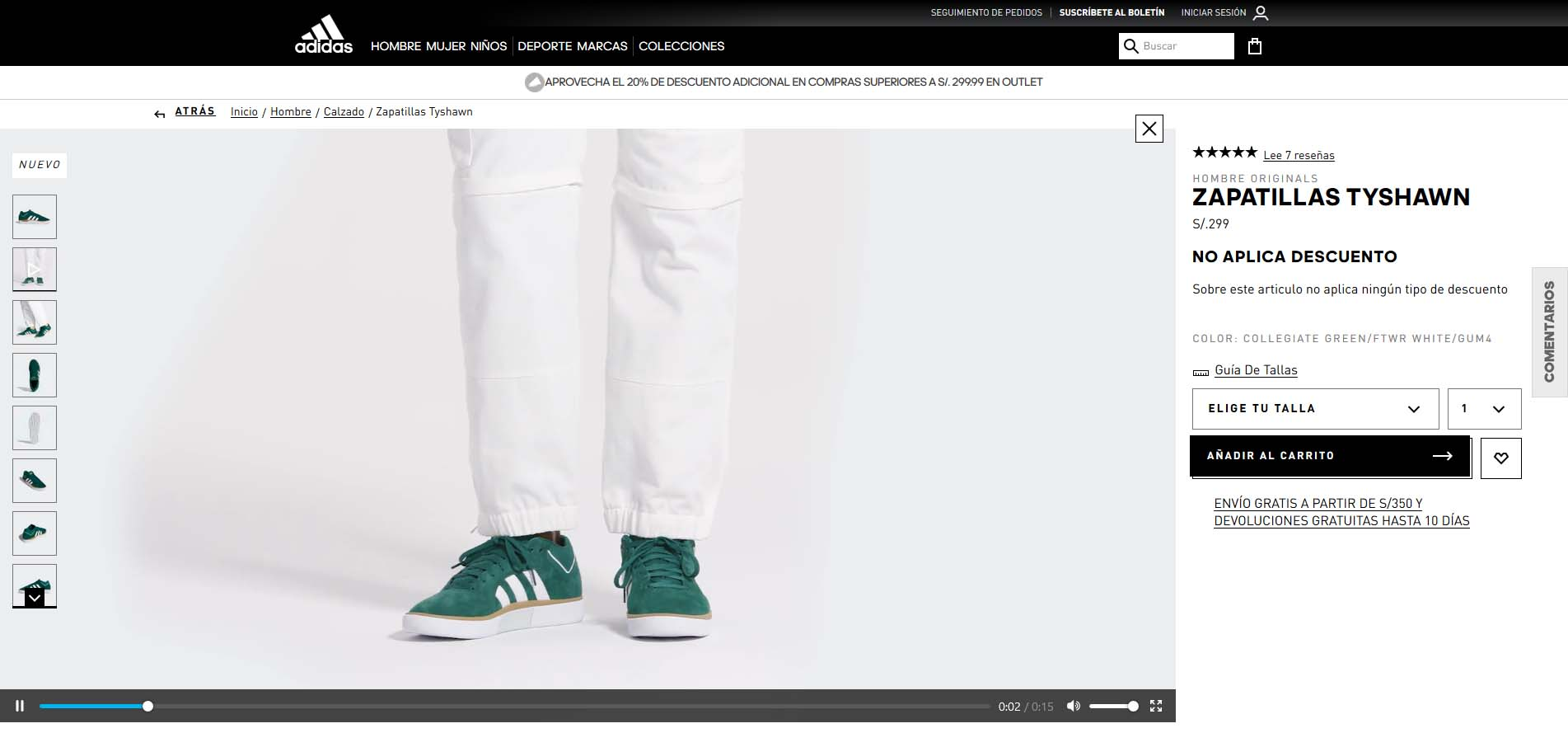 adidas comprar online video